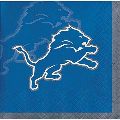 Detroit Lions Beverage Napkins, 48 ct -