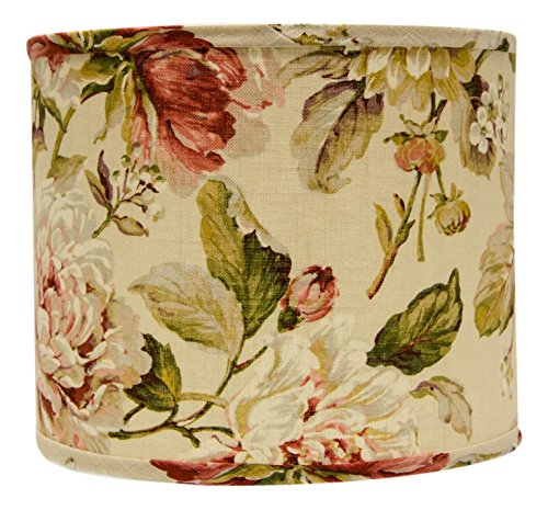 AHS Lighting SD1476-10WD Large Rose Floral Drum Lamp Shade with Washer, 10'