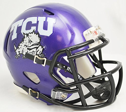 Tcu College Football (NCAA Texas Christian (TCU) Horned Frogs Speed Mini Helmet)