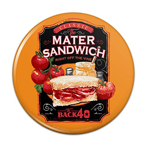 Back 40 Classic Tomato Mater Sandwich Right Off the Vine Farm Farming Compact Pocket Purse Hand Cosmetic Makeup Mirror - 3