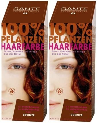 Tinte para el cabello Sante BIO, bronce, 2 x 100 g ...