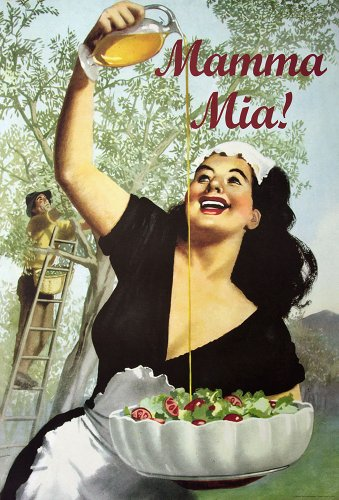 Mamma Mia. Vintage Advertising Reproduction Poster