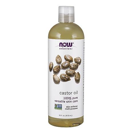Ahora soluciones aceite de ricino, 100% Pure, 16 oz