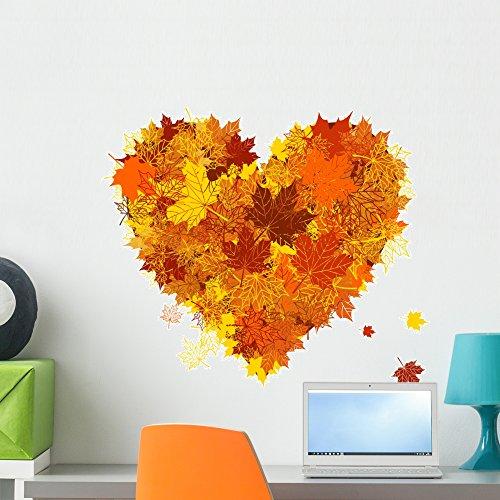 Wallmonkeys Autumn Love Wall Decal Peel and Stick Graphic WM