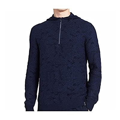 Calvin Klein Men's Cotton Modal Paralle Fashion Hoodie Cadet Navy Combo