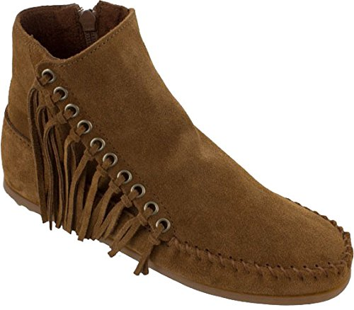 Minnetonka Women's Willow Boot, Dusty Brown Suede, 7 M