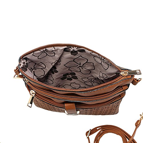 Shoulder PU Leather Bag Crossbody Bag Vintage Women's Hollow Black Bausweety xwZqX0YHZ