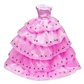 Ragazze Fashion Doll Clothes Vestiti da Sera del Vestito da Sposa Abito da Festa di Nozze Accessori Giocattoli Abbigliamento Regalo di Natale