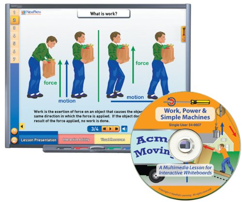 NewPath Learning Work Power and Simple Machines Multimedia Lesson, Site License/Single Building, Grade 6-10