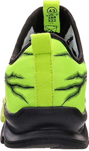 BRONAX Boys Running Shoes Slip on Fashion Tennis Working Jogging Athletic Sport Gym Sneaker for Young Mens Green Size 6 by BRONAX (Image #4)