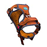 ThinkPet No Pull Harness Breathable Sport Harness with Handle - Reflective Padded Dog Safety Vest Adjustable Harness, Back/Front Clip for Easy Control M Orange