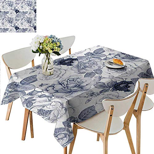 h,Garden Spring Roses Buds with Leaves Flowers Romantic Image Artwork Tablecloth Wedding Birthday Party Great for Partie,25.5W x 65L Inches ()
