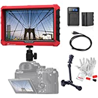 Pergear A7S 7 Inch On Camera Field Monitor Supports 4K HDMI Input Loop Output 1920x1200 Resolution 1000:1 Contrast 500cd/㎡ Brightness 170 Degree Viewing Angle W/ 6600mAh Battery Kit N 11 Magic Arm
