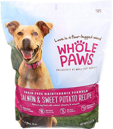 Whole Paws, Adult Maintenance Dog Food Formula, Salmon & Sweet Potato (Grain Free), 6 lb