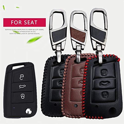 Amazon.com: Funda de piel para llave de coche para Seat Leon ...
