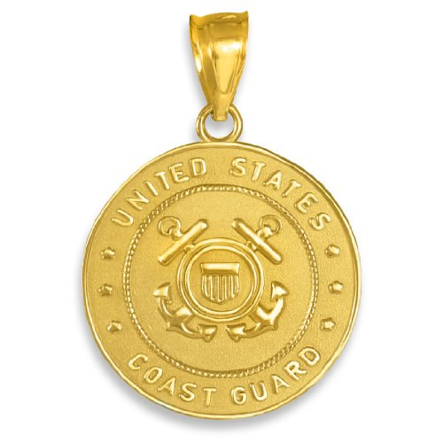 - 10K Gold US Coast Guard Pendant