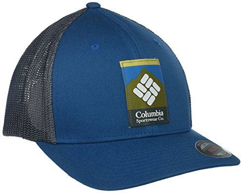 Columbia Men's Mesh Ballcap, Phoenix Blue, Columbia Patch, S/M