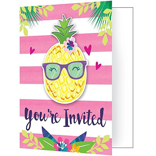 Creative Converting LTD 8 Pineapple N Friends Party Invitation (Friends Party Invitations)