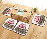 Leighhome Universal Chair Cushions Decorations Happy Party Cake with Candles Cherries and Sprinkles