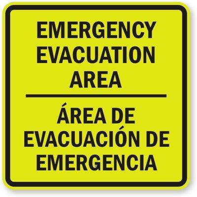 Amazon.com: Zona de evacuación, área de evacuación de ...