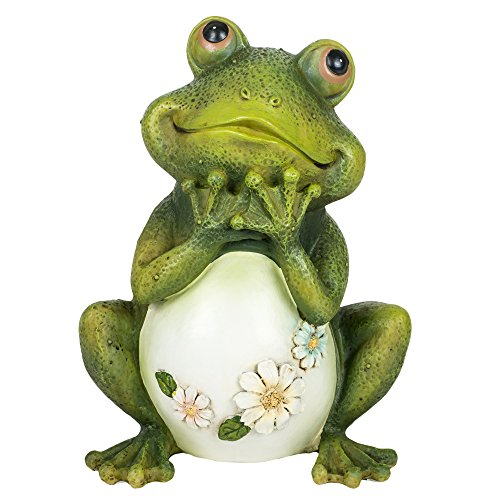 Atecy 45500226 Joseph Studio 65904 Tall Frog Sitting Up Garden Statue, 9.5-Inch, 9.5 inches, green (Frog Sitting Green)