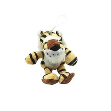 Rocita Peluche Squeaky Perro Masticar dentición Fetch Tug Molar Juguetes Mascotas Entrenamiento Dispositivo Molar Dientes Limpieza Muñeca Juguete Tiger: ...