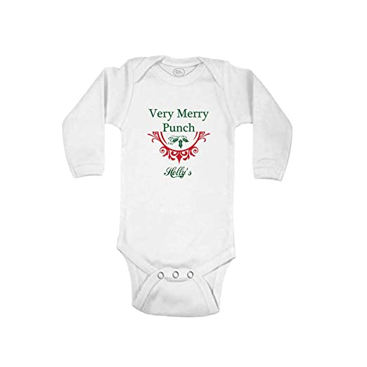 Amazon Com Personalized Custom Very Merry Punch Long Sleeve Boys