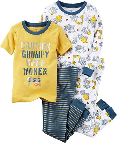 Carter's Boys' 12M-10 4 Piece Construction Print Pajama Set 18 Months