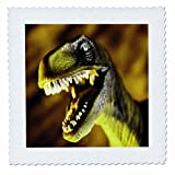 3dRose qs_33145_2 Dinosaur-Quilt Square, 6 by 6-Inch