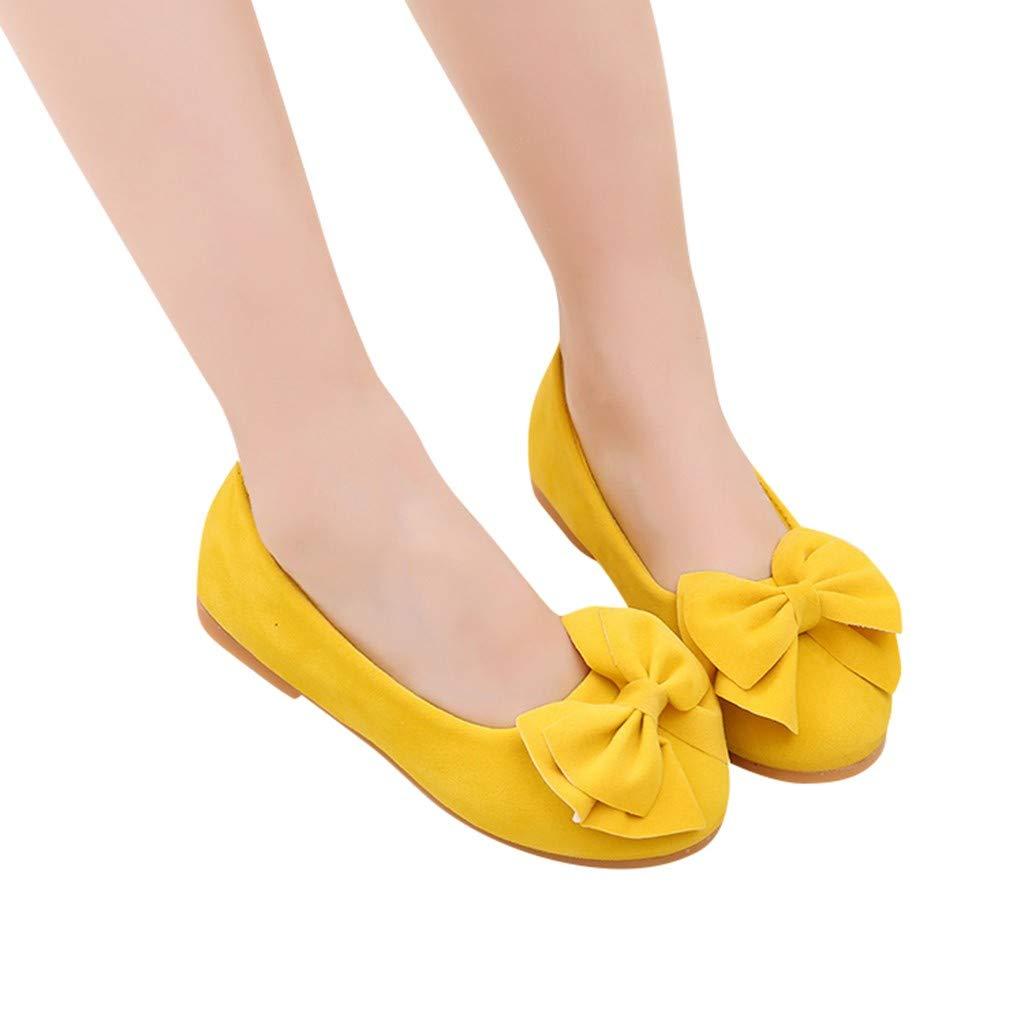 SOMESUN Chaussures /à Fond Souple Fille Sandale Princesse Chaussures Danse Arc Fille Chaussures De Beanie Chaussures Simples avec Pailliettes N/œUd /à Deux Boucles