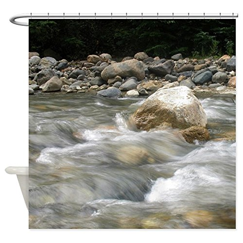 CafePress - River & Rocks Shower Curtain - Decorative Fabric Shower Curtain