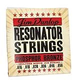 Dunlop DOP1656 Resonator Strings, Phosphor Bronze, Medium, .016-.056, 6 Strings/Set
