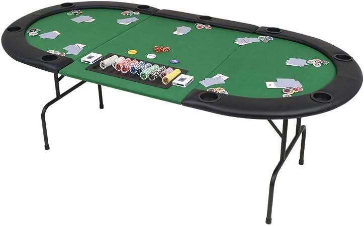 3 ghuanton Poker 9 Ovale Joueurs Table de Plis Pliable pour wZkXiOluPT