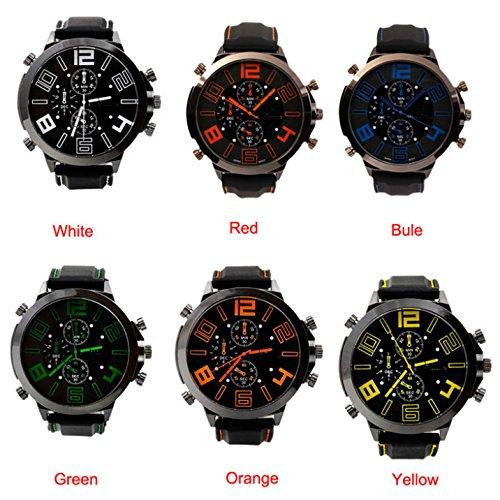 Caliente vender negocios cuarzo hombres/mujeres relojes moda hombres relojes de la correa de cuero negro relojes deportivos Relogio Masculino: Amazon.es: ...