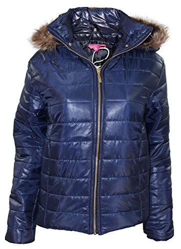 Nuevas señoras Celeb Inspirado Puffer Coat desmontable Hood Casual Womens Jacket Navy