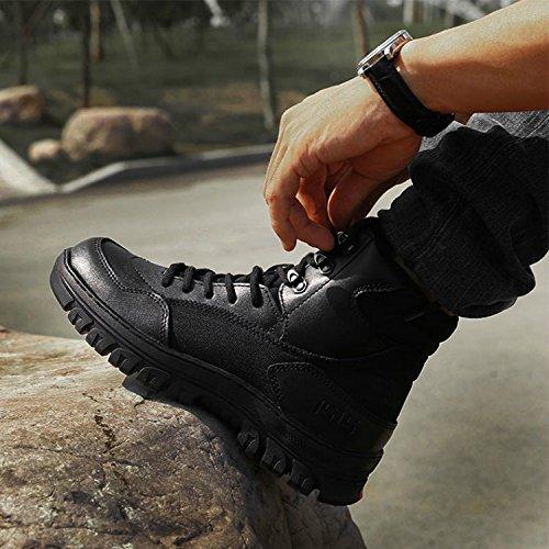 qiangren 3515Combat Tactique Militaire Bottes en cuir Chaussures