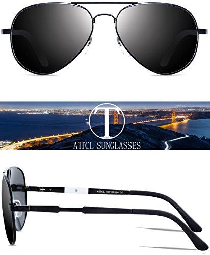 Polarizadas Ligero Mg ATTCL Al Hombres De Súper Negro De Metal Marco Gafas Sol 5wxac1YaqT