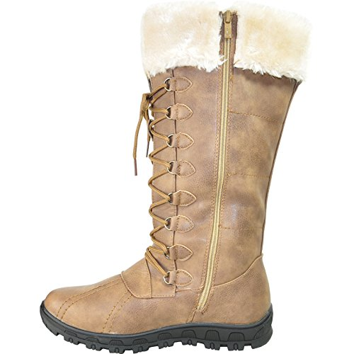 39M Boots Lining a Fur Round With Toe Winter SG4484 Kozi Women Taupe wUqCqP4