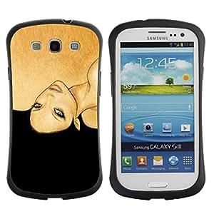 Suave TPU GEL Carcasa Funda Silicona Blando Estuche Caso de protección (para) Samsung Galaxy S3 I9300 / CECELL Phone case / / golden brown black woman fashion hair /