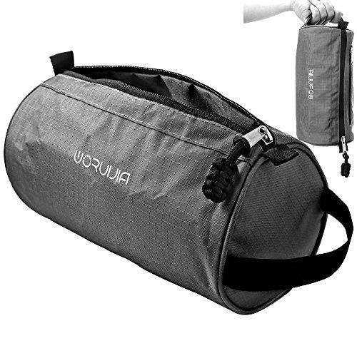 Travel Toiletry Bag & Dopp kit By WORUIJIA ,Cosmetic Bag for Mens & Womens ,Black