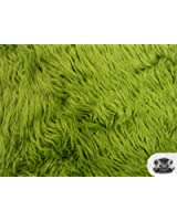Faux / Fake Fur Mongolian OLIVE GREEN Fabric by the Yard