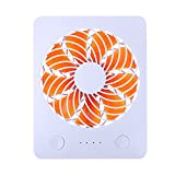 "Mini USB Desk Fan RUNNEPT Portable Rechargeable Fan Battery Powered with Power Bank 4"" 3 Speeds Adjustable(Orange)"