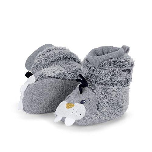 Sterntaler Schuh - Zapatillas de casa Bebé-Niñas Gris - Grau (basalt 515)