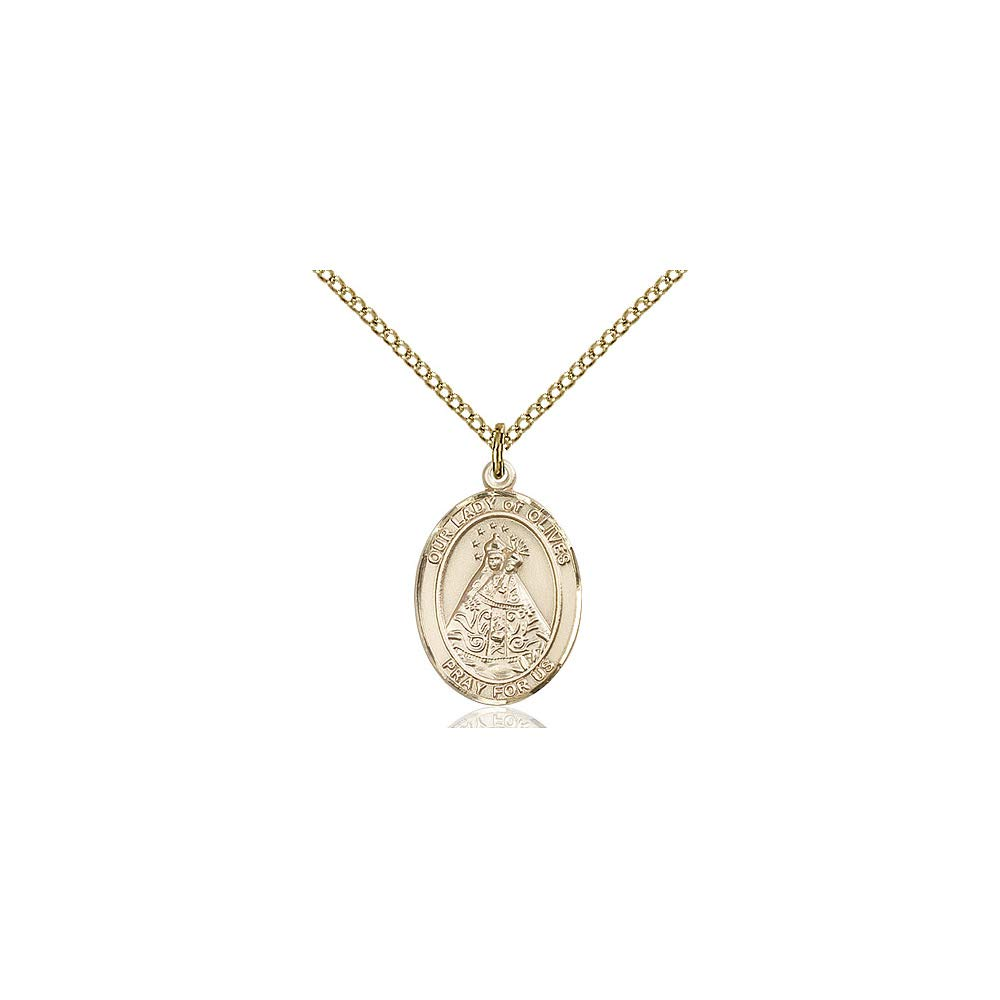 DiamondJewelryNY 14kt Gold Filled O//L of Olives Pendant