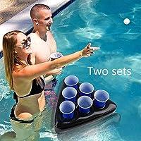 Uhomely inflables Cerveza Pong Sombreros, 2Pack de mesas flotantes ...