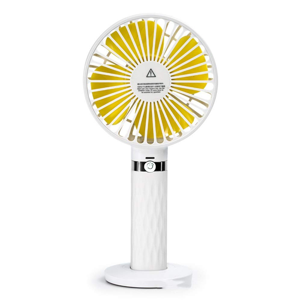Handheld USB Folding Fan, Mini Charging Handheld Folding Creative Air Cooler Hand Portable Fan,for Home and Travel (Color : White) by In This Space