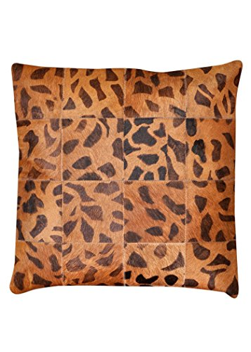 Pure Cowhide Leopard Printed Cow Skin Pillow Cushion Covers - Leopard Cowhide