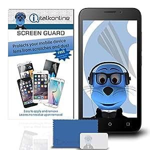 iTALKonline Huawei Honor Bee 10unidades de protector de pantalla LCD con Microfibre paño de limpieza y tarjetas de aplicaciones