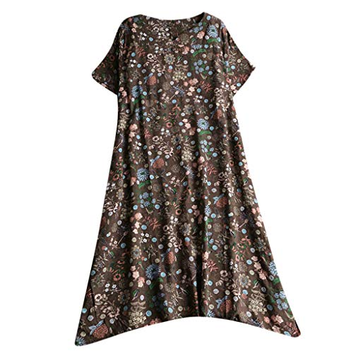 - Save 15% BBesty Women's Summer Casual Long Maxi Sundress Beach Party Boho Floral Print Dress for Party,Beach,Work Brown