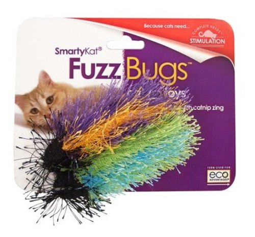 SmartyKat Fuzz Bugs 2-Pack Catnip Cat Toy, My Pet Supplies